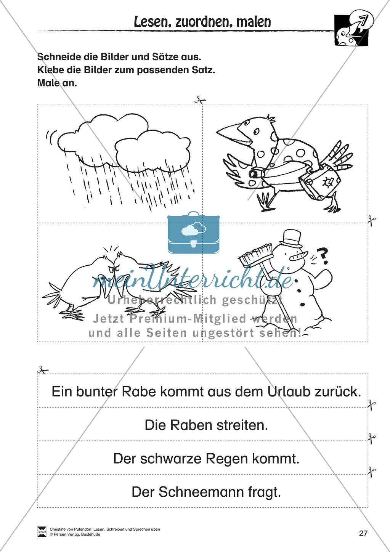 """Lesen - Schreiben - Sprechen: """" Als die Raben (...) """" Lesekarten + Arbeitsblätter zur Sprachförderung Preview 24"""