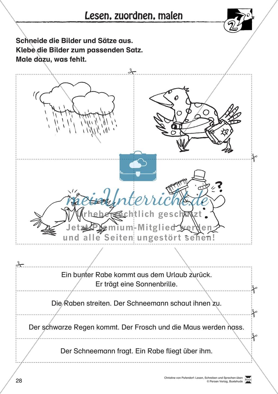 """Lesen - Schreiben - Sprechen: """" Als die Raben (...) """" Lesekarten + Arbeitsblätter zur Sprachförderung Preview 25"""