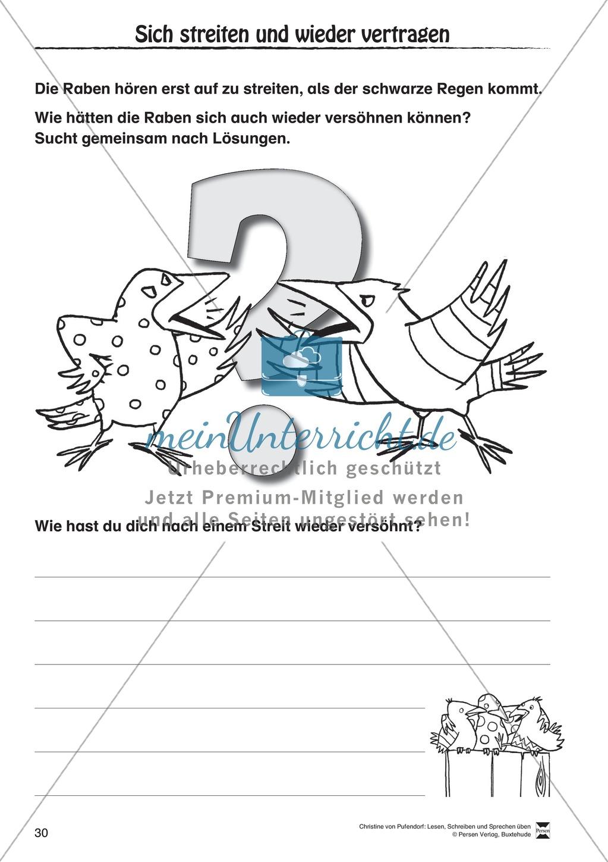 """Lesen - Schreiben - Sprechen: """" Als die Raben (...) """" Lesekarten + Arbeitsblätter zur Sprachförderung Preview 27"""