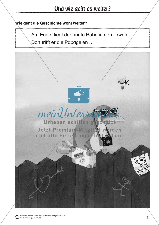"""Lesen - Schreiben - Sprechen: """" Als die Raben (...) """" Lesekarten + Arbeitsblätter zur Sprachförderung Preview 28"""