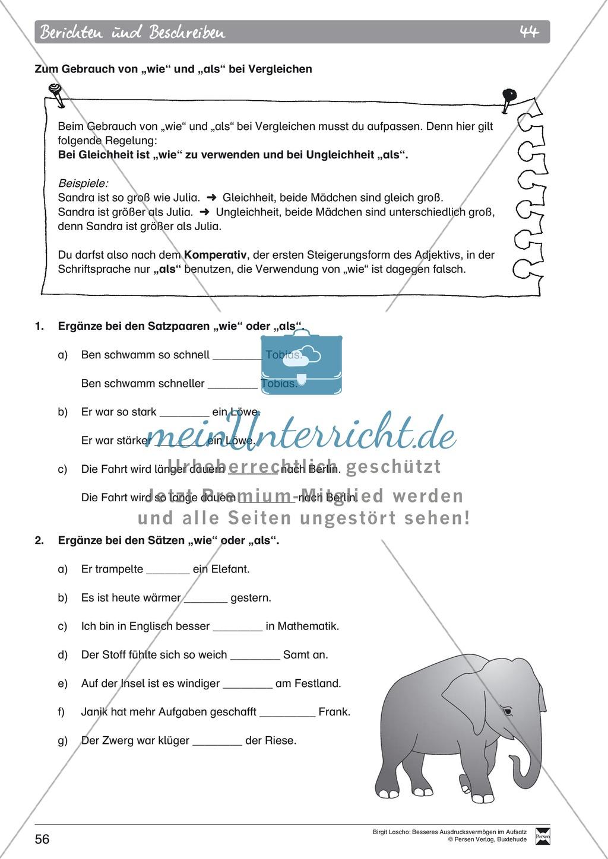 Sprachstil -Grammatik - Ausdrucksvermögen verbessern: \