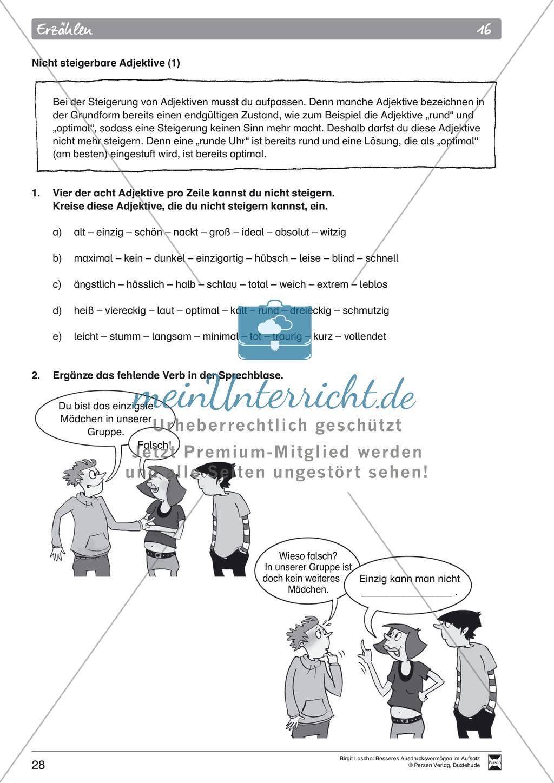 """Sprachstil -Grammatik - Ausdrucksvermögen verbessern: """"Erzählen"""" - Binnendifferenzierung + Arbeitsblätter + Aufgaben + Lösungen Preview 18"""