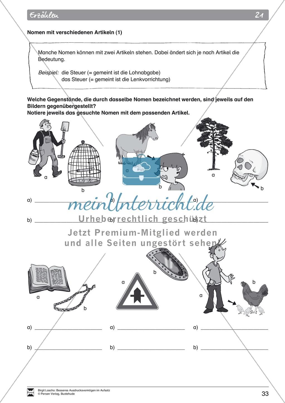 """Sprachstil -Grammatik - Ausdrucksvermögen verbessern: """"Erzählen"""" - Binnendifferenzierung + Arbeitsblätter + Aufgaben + Lösungen Preview 23"""