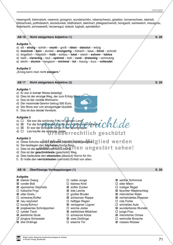 """Sprachstil -Grammatik - Ausdrucksvermögen verbessern: """"Erzählen"""" - Binnendifferenzierung + Arbeitsblätter + Aufgaben + Lösungen Preview 32"""