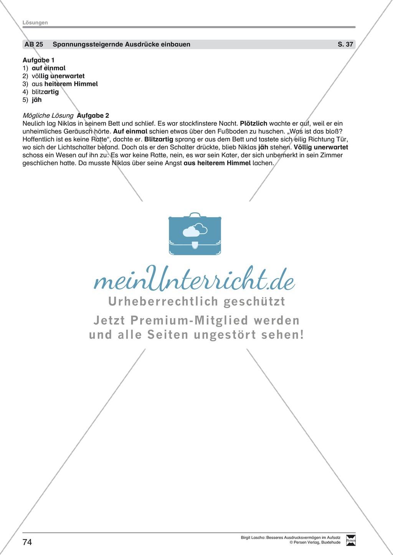 """Sprachstil -Grammatik - Ausdrucksvermögen verbessern: """"Erzählen"""" - Binnendifferenzierung + Arbeitsblätter + Aufgaben + Lösungen Preview 35"""