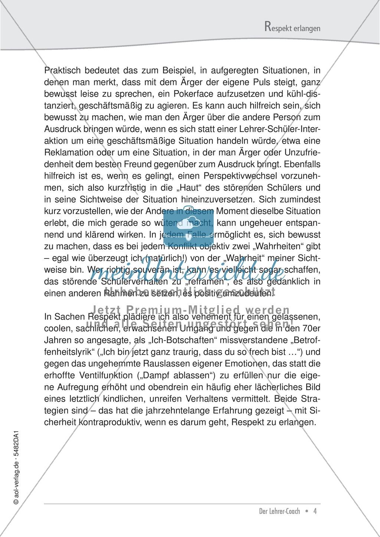Respekt erlangen: Problembeschreibung und Tipps für Lehrer Preview 3