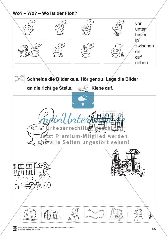 Artikel, Präpositionen und Nomen: Übungen rund um die Schule ...