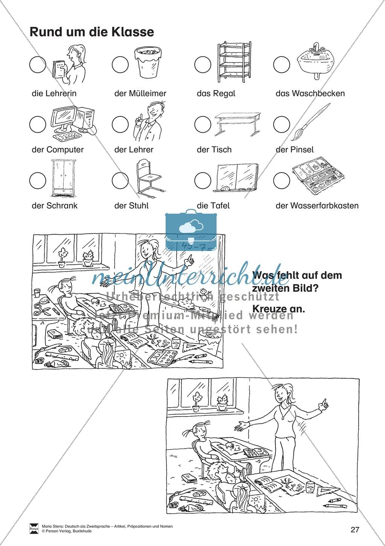 artikel pr positionen und nomen bungen rund um die klasse meinunterricht. Black Bedroom Furniture Sets. Home Design Ideas