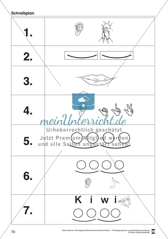 Schreibplan - Bild-Schreib-Karten: Arbeitsblätter + Übungen Preview 0