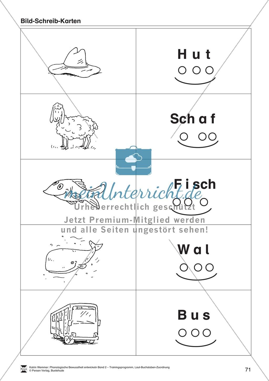Schreibplan - Bild-Schreib-Karten: Arbeitsblätter + Übungen Preview 1