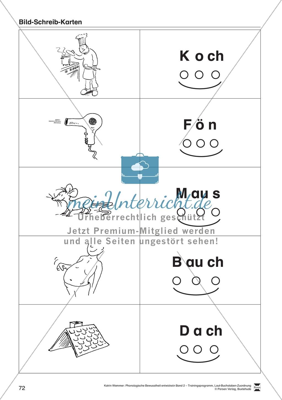 Schreibplan - Bild-Schreib-Karten: Arbeitsblätter + Übungen Preview 2