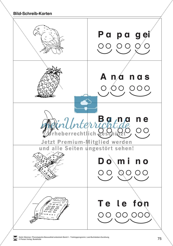 Schreibplan - Bild-Schreib-Karten: Arbeitsblätter + Übungen Preview 5