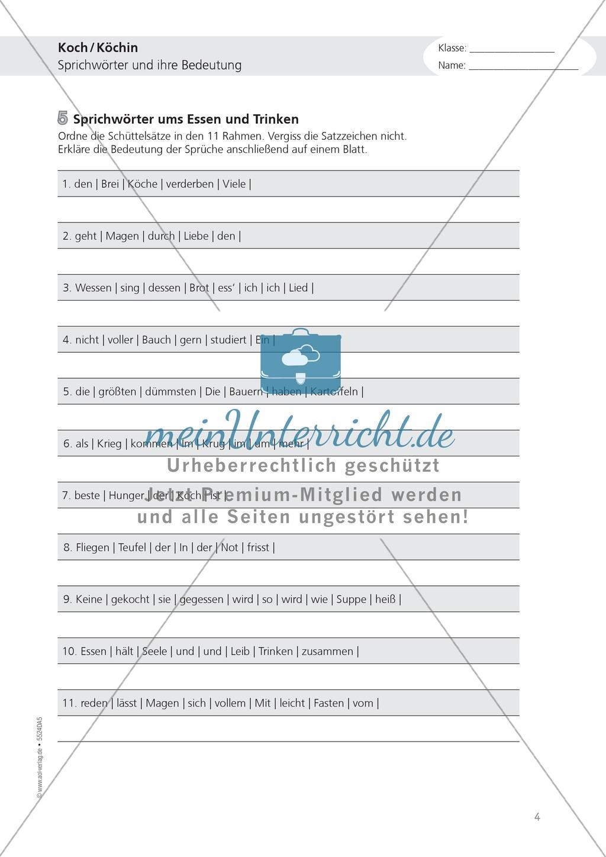 Arbeiten als Koch und Köchin: Deutsch-Aufgaben aus dem Berufsalltag Preview 3