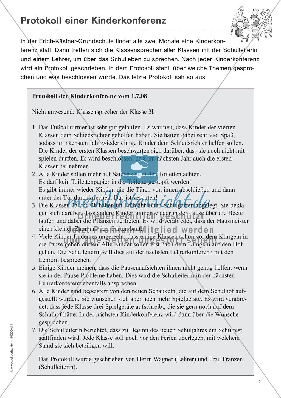 """Sachtexte verstehen: """"Die Kinderkonferenz"""" - Lesetext + Aufgaben + Lösungen Preview 2"""