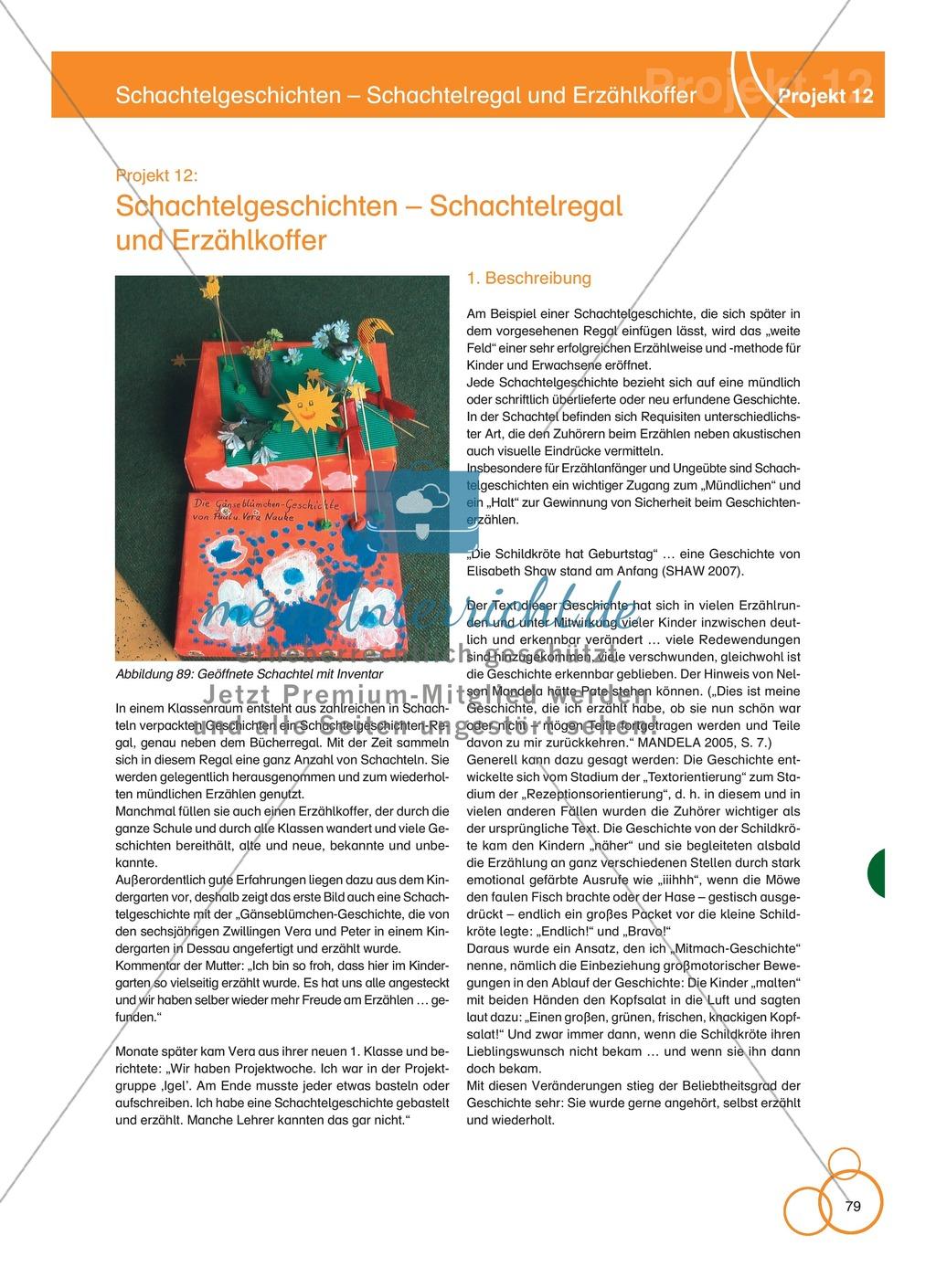 Projekt 12: Schachtelgeschichten - Schachtelregal und Erzählkoffer Preview 0