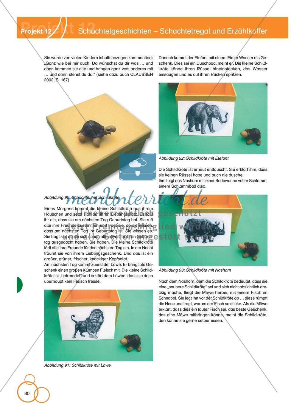 Projekt 12: Schachtelgeschichten - Schachtelregal und Erzählkoffer Preview 1