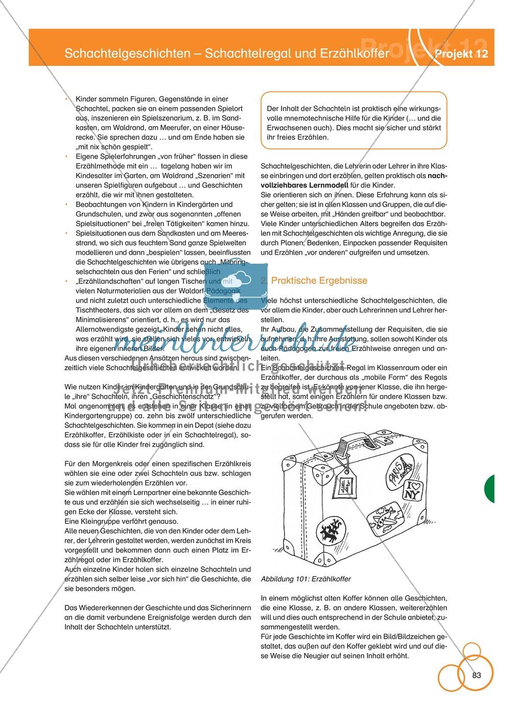 Projekt 12: Schachtelgeschichten - Schachtelregal und Erzählkoffer Preview 4