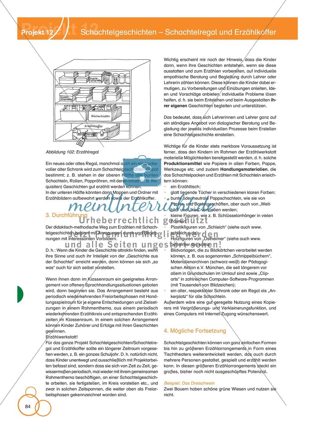 Projekt 12: Schachtelgeschichten - Schachtelregal und Erzählkoffer Preview 5