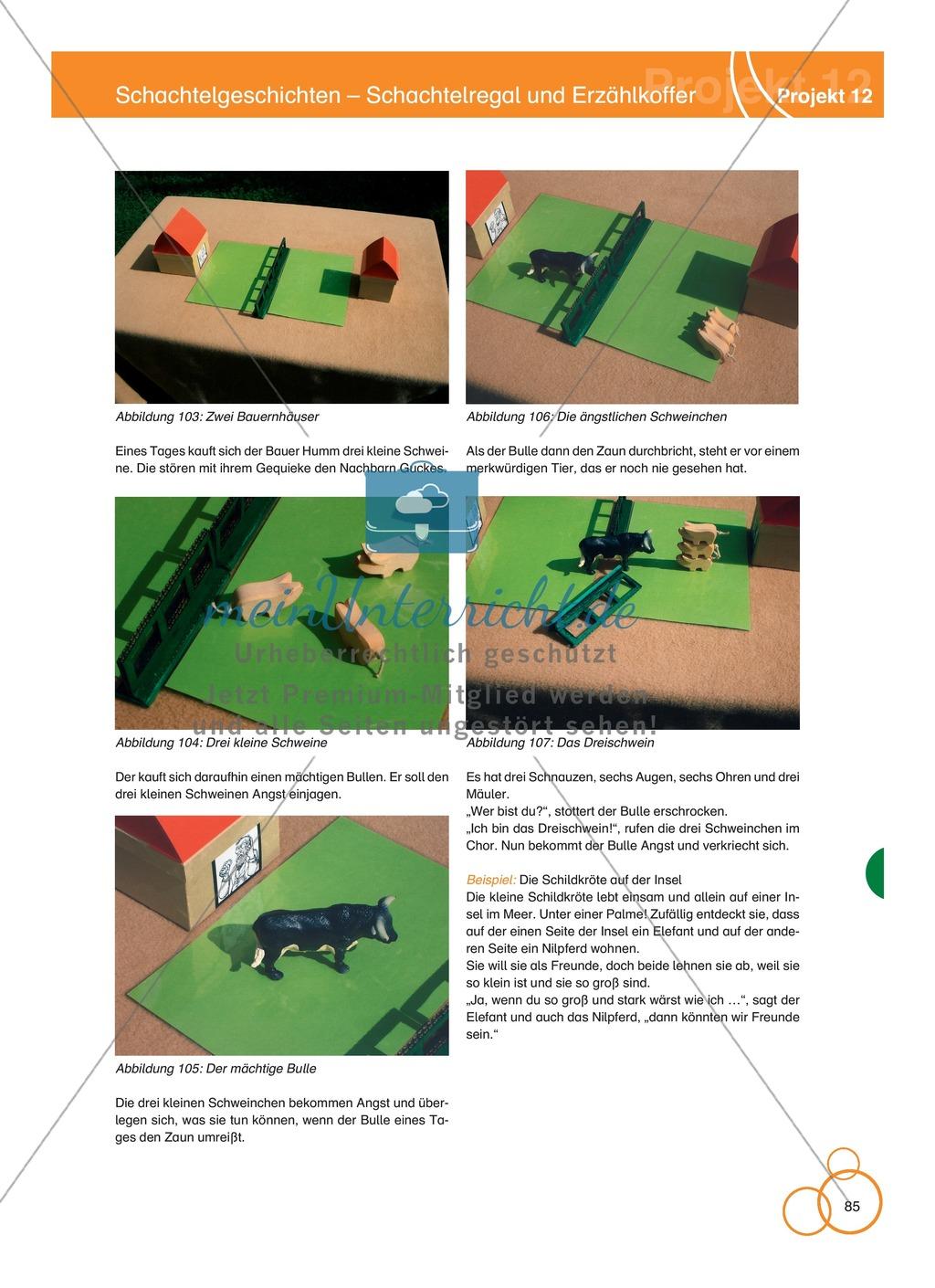 Projekt 12: Schachtelgeschichten - Schachtelregal und Erzählkoffer Preview 6