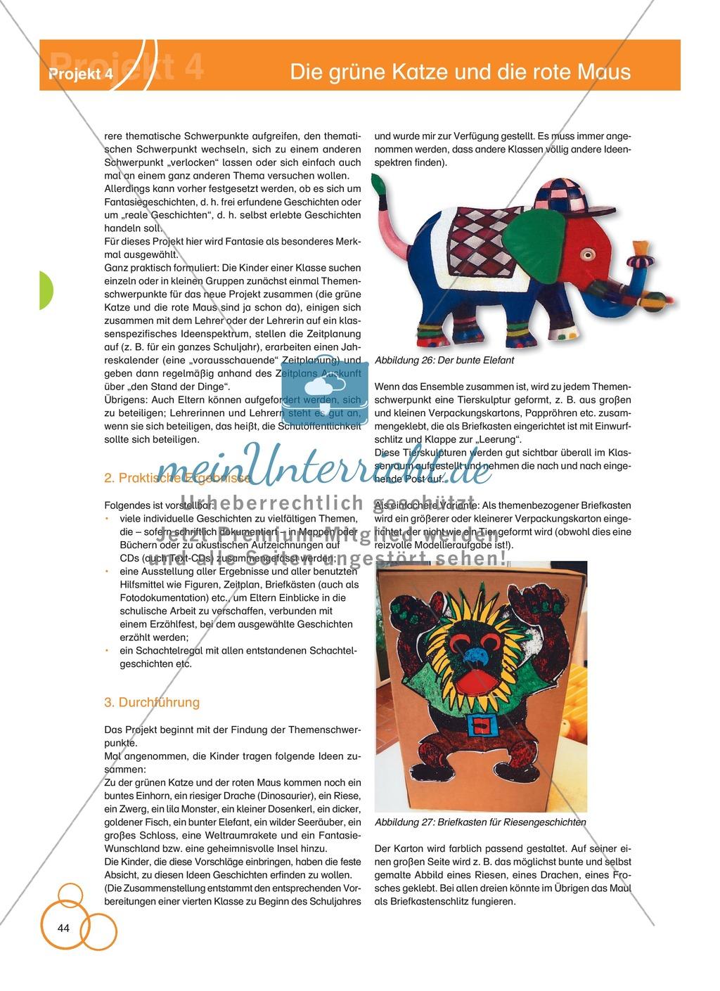 Projekt 4: Die grüne Katze und die rote Maus Preview 1