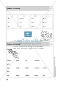 Stationentraining Farben: Arbeitsblätter mit Lösungen, Diktat Preview 9