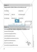 Stationentraining Kalender: Arbeitsblätter mit Lösungen, Diktat Preview 12