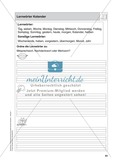 Stationentraining Kalender: Arbeitsblätter mit Lösungen, Diktat Preview 1