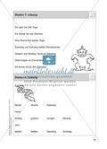 Stationentraining Kalender: Arbeitsblätter mit Lösungen, Diktat Preview 9