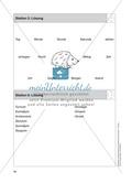 Stationentraining Uhr: Arbeitsblätter mit Lösungen, Diktat Preview 7