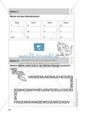 Stationentraining Körper: Arbeitsblätter mit Lösungen, Diktat Preview 8