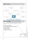 Stationentraining Zahlen: Arbeitsblätter mit Lösungen, Diktat Preview 11