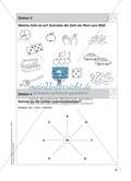 Stationentraining Zahlen: Arbeitsblätter mit Lösungen, Diktat Preview 4