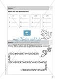 Stationentraining Zahlen: Arbeitsblätter mit Lösungen, Diktat Preview 8