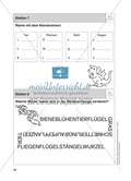 Stationentraining Wiese: Arbeitsblätter mit Lösungen, Diktat Preview 8