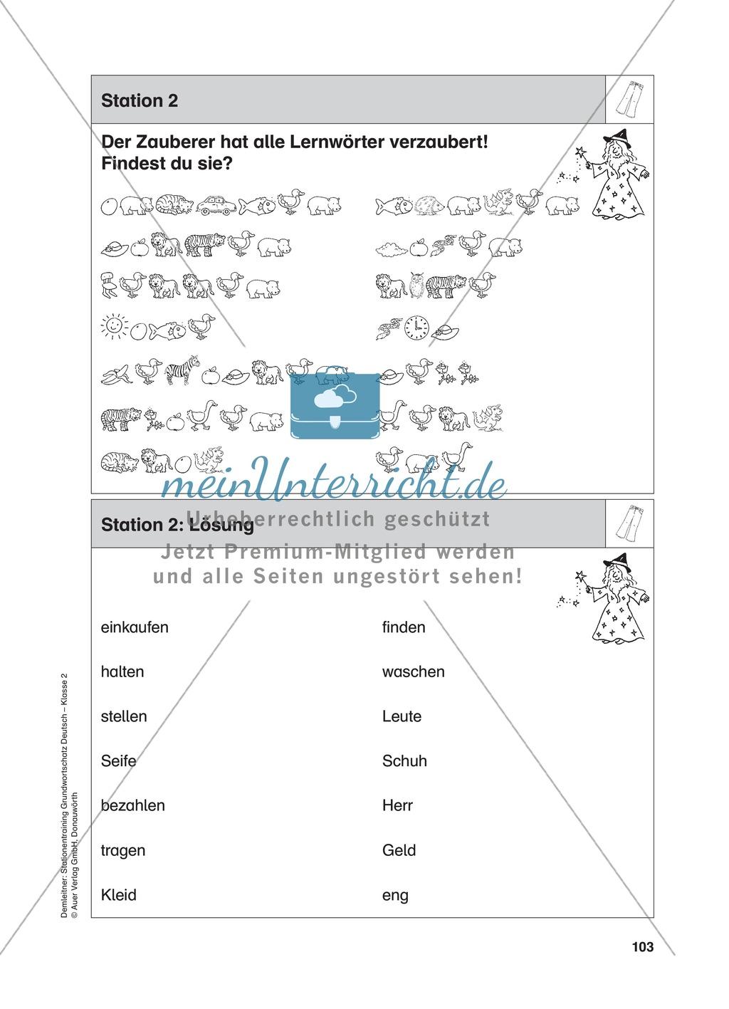 Stationentraining Kleidung: Arbeitsblätter mit Lösungen, Diktat Preview 2