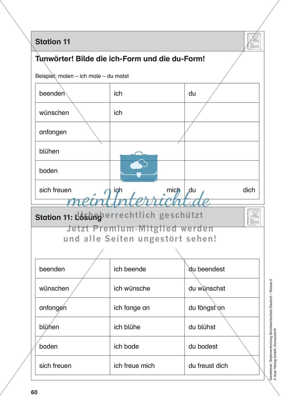 Stationentraining Jahr: Arbeitsblätter mit Lösungen, Diktat Preview 11