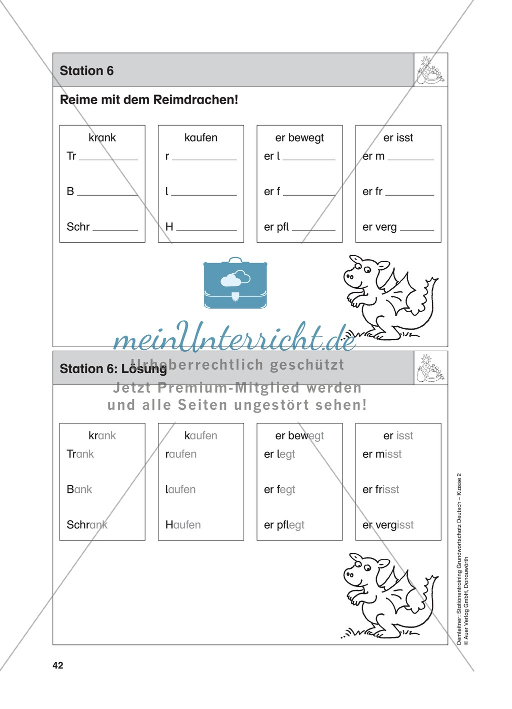 Stationentraining Ernährung: Arbeitsblätter mit Lösungen, Diktat Preview 6