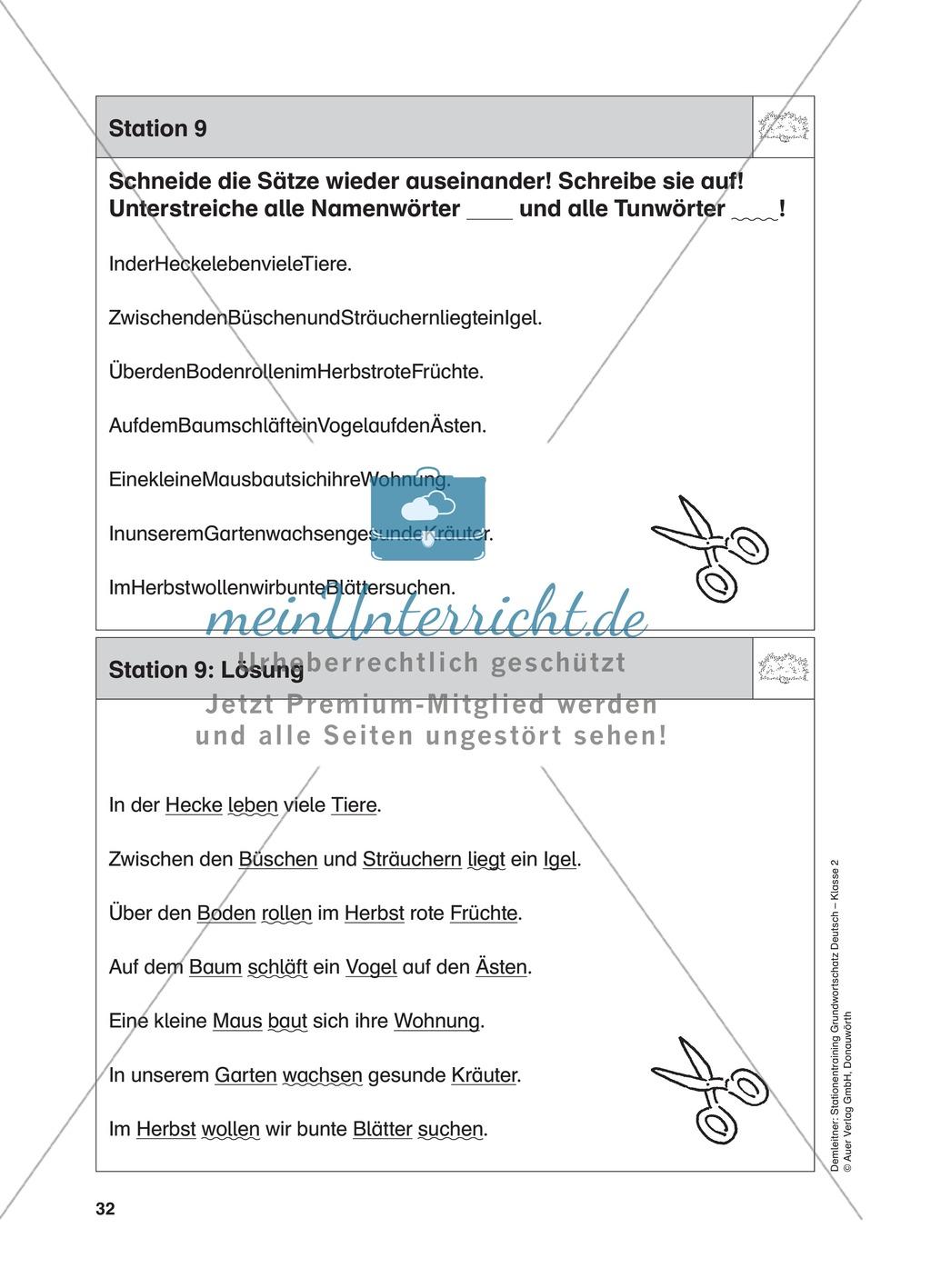 Stationentraining Hecke: Arbeitsblätter mit Lösungen, Diktat Preview 10