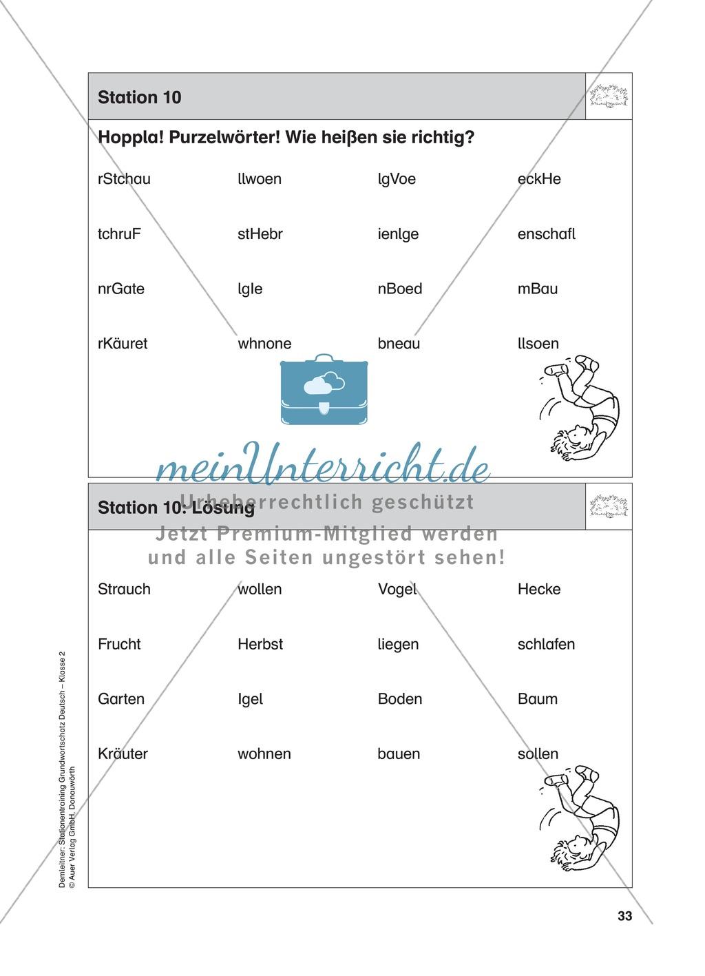 Stationentraining Hecke: Arbeitsblätter mit Lösungen, Diktat Preview 11