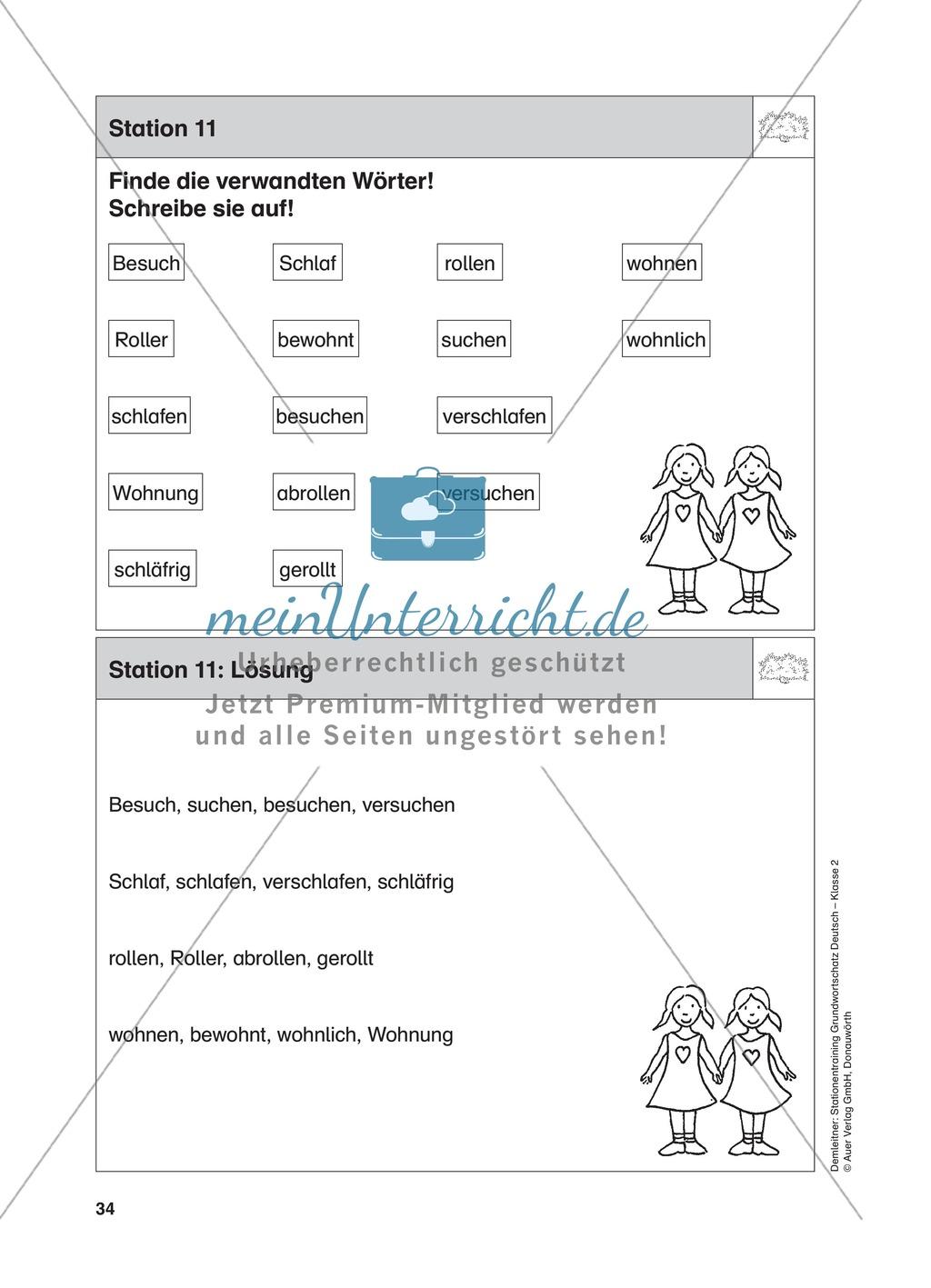 Stationentraining Hecke: Arbeitsblätter mit Lösungen, Diktat Preview 12
