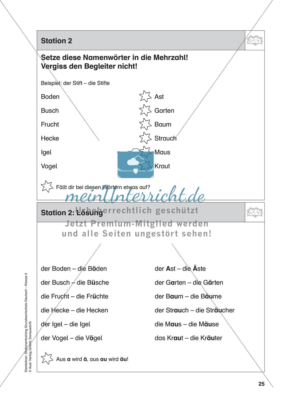 Stationentraining Hecke: Arbeitsblätter mit Lösungen, Diktat Preview 3