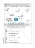 Grundwortschatz Deutsch Schreiben: Tiere - Was tun die Tiere? Preview 1