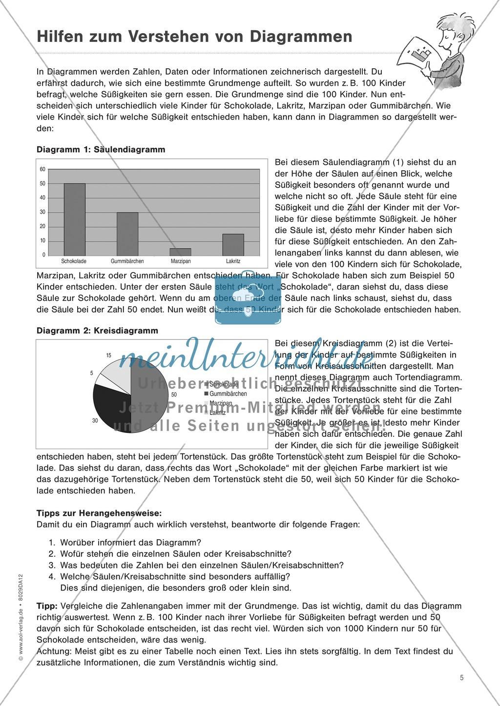"""Sachtexte verstehen - Strategien vermitteln: """"Diagramme und Tabellen"""" - Beobachtungsbogen + Fördertipps + Aufgaben Preview 4"""
