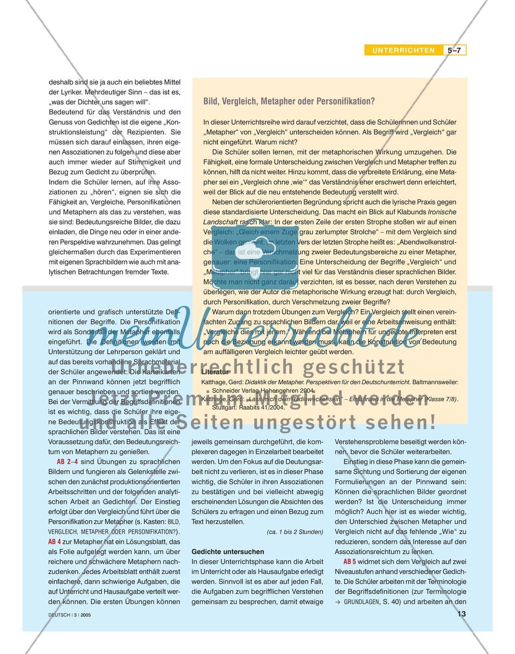 Sprachliche Bilder erfahren und interpretieren Preview 2