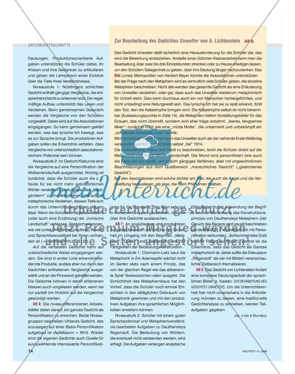 Sprachliche Bilder erfahren und interpretieren Preview 3