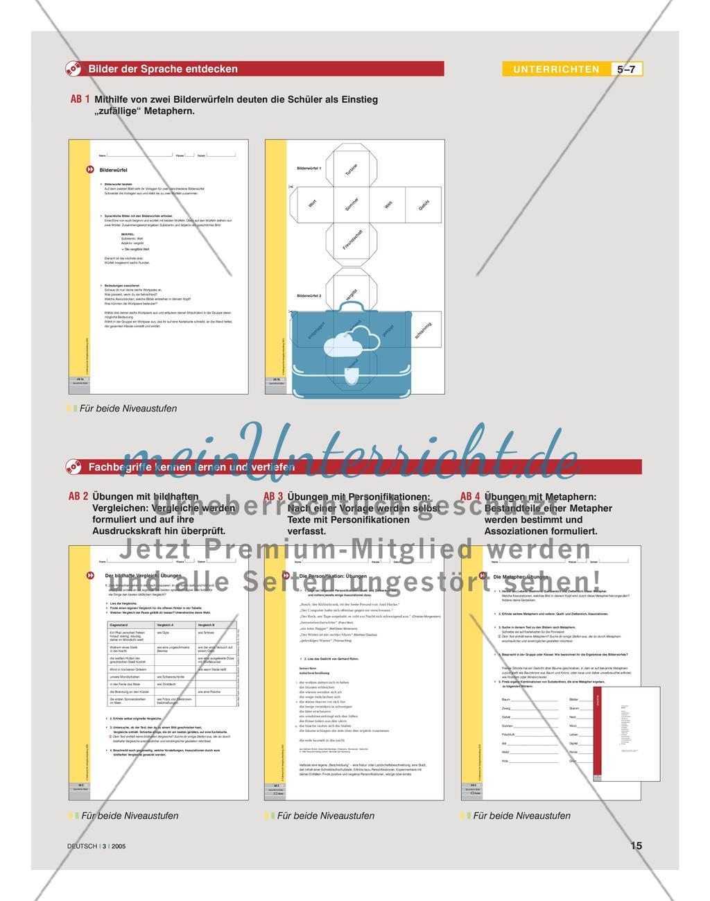 Sprachliche Bilder erfahren und interpretieren Preview 4