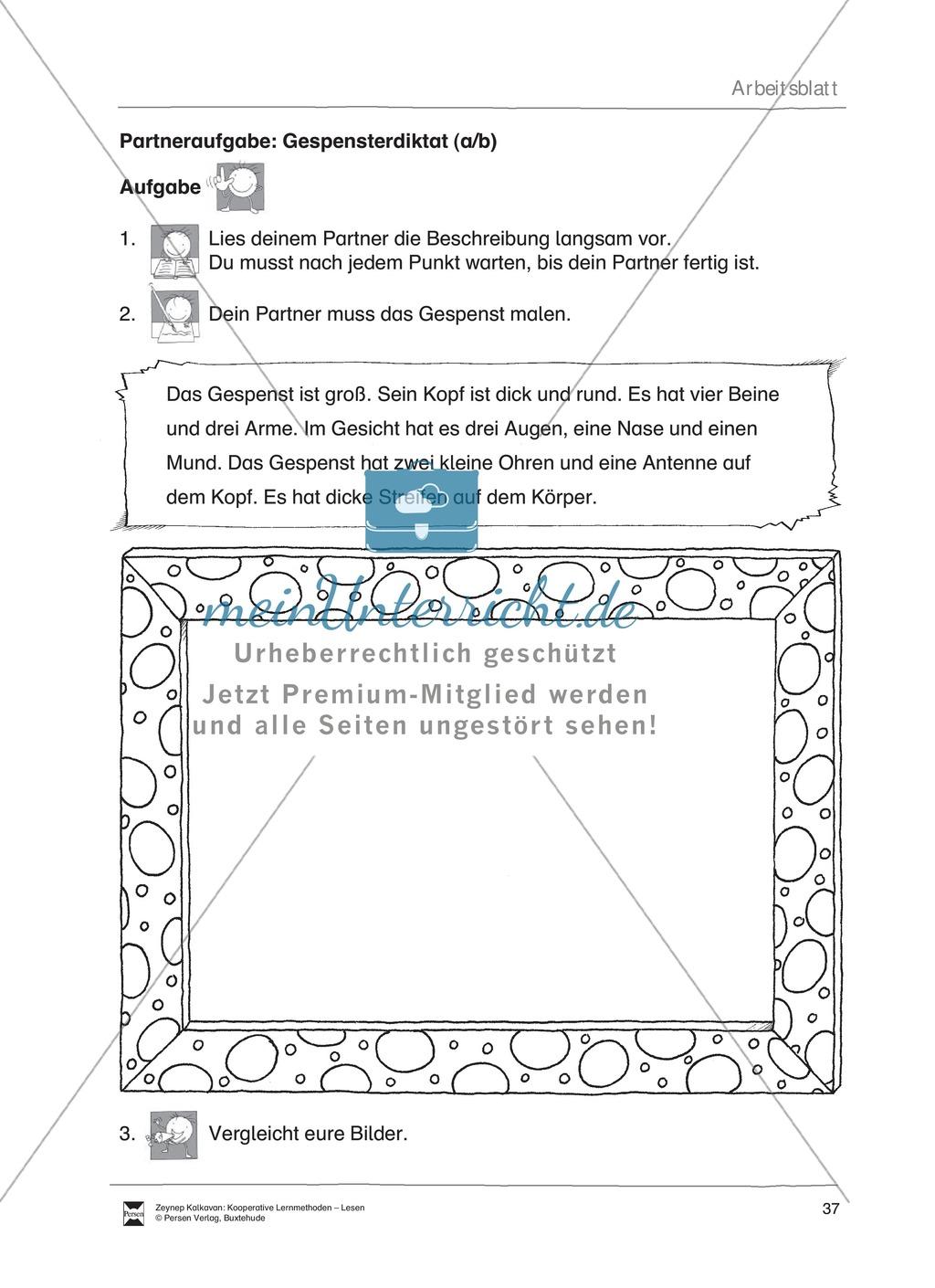 Unterrichtsbeispiel: Lesequiz Gespenster: Arbeitsanweisungen, Arbeitsblätter und Lösungen Preview 4