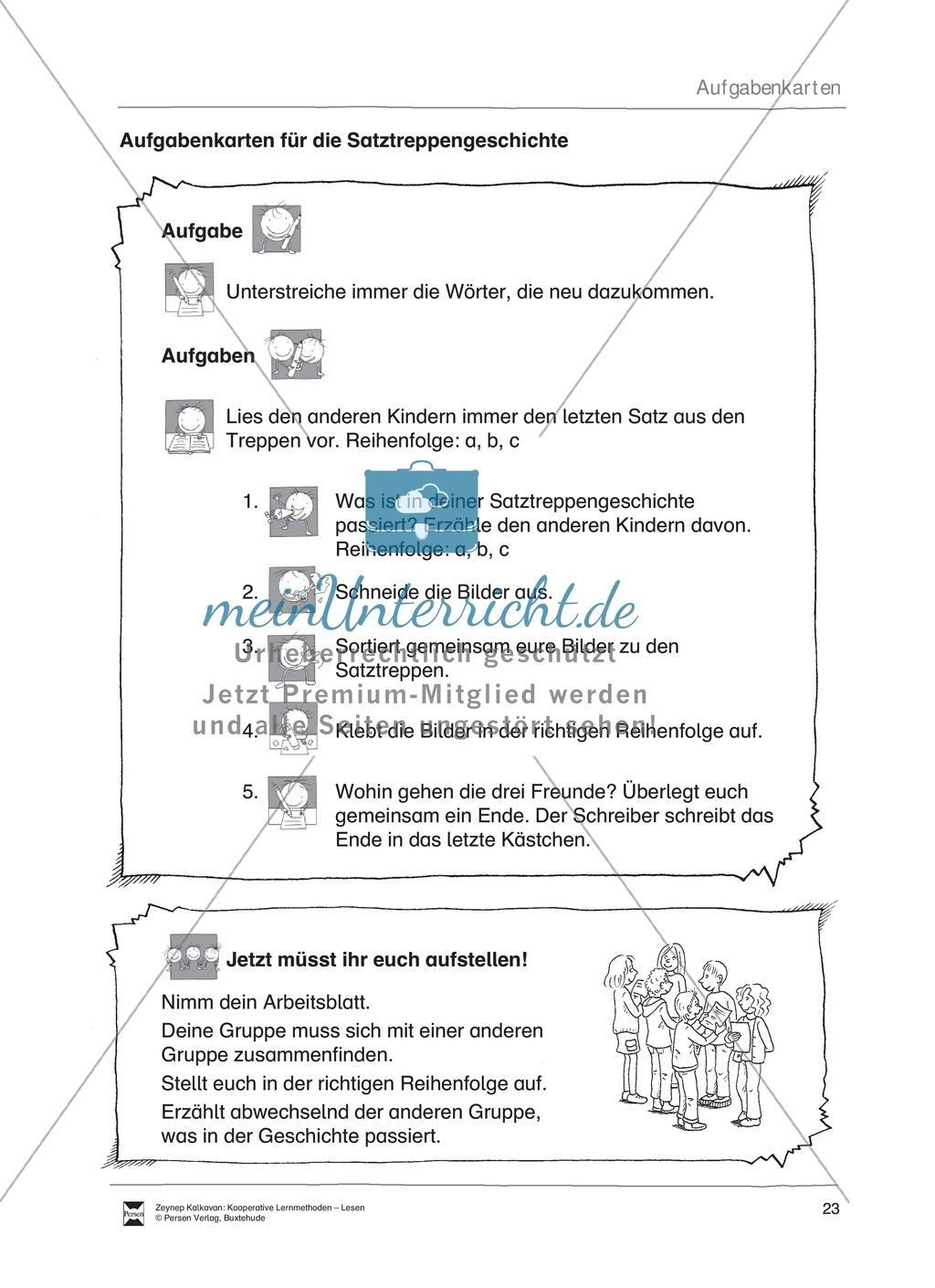 Unterrichsbeispiel: Satztreppen: Arbeitsanweisungen, Arbeitsblätter Preview 2