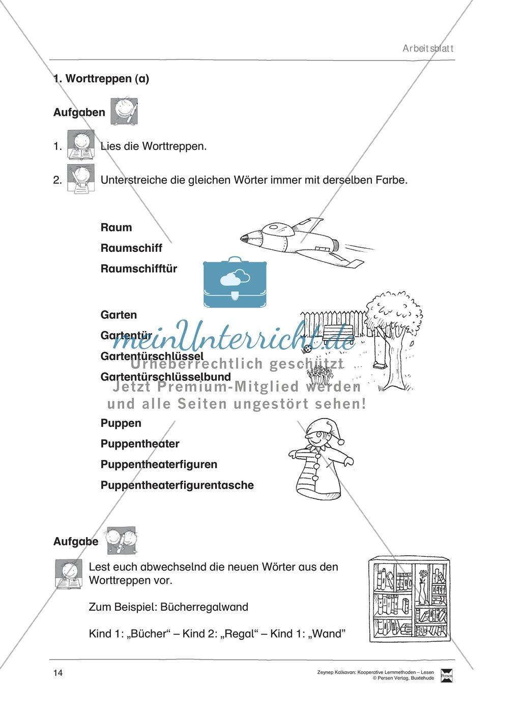 Unterrichtsbeispiel: Worttreppen: Arbeitsanweisungen, Arbeitsblätter Preview 1
