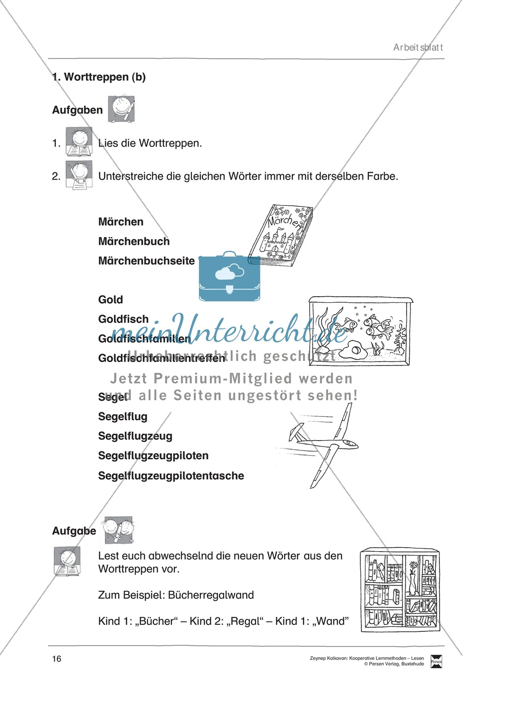Unterrichtsbeispiel: Worttreppen: Arbeitsanweisungen, Arbeitsblätter Preview 3
